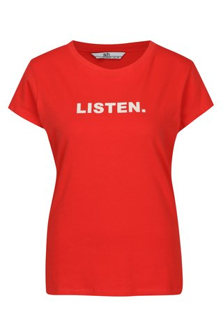 Tricou minimalist rosu cu mesaj - SH Licogna