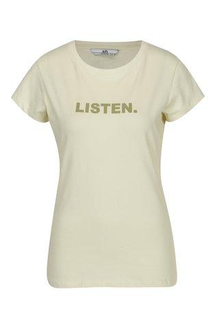Tricou minimalist galben deschis cu mesaj - SH Licogna