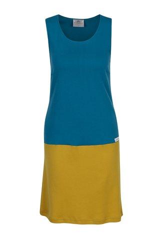 Tyrkysovo-hořčicové šaty SEVERANKA
