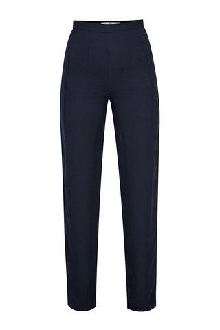 Pantaloni bleumarin drepti si lejeri cu talie inalta - SH Virmond