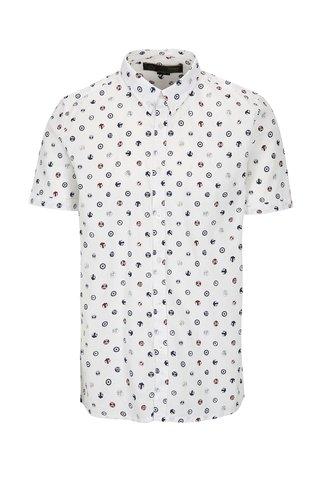 Bílá vzorovaná košile Merc