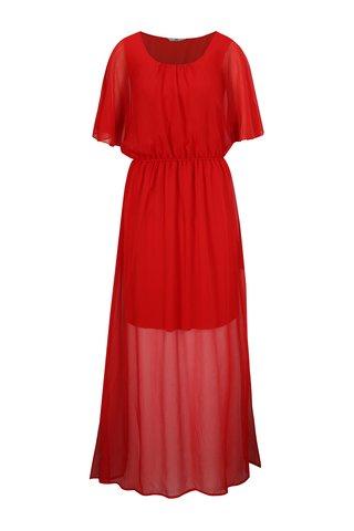 Rochie maxi rosie cu slituri laterale - SH Pereirde