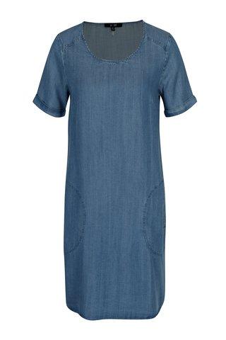 Rochie albastra din denim cu buzunare -  Yest