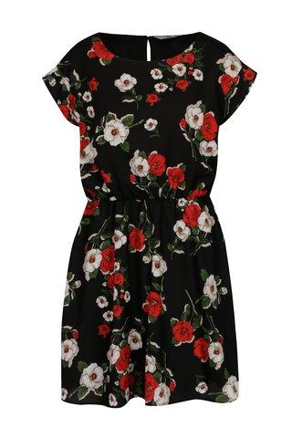 Rochie neagra vaporoasa cu print floral -  SH Refente