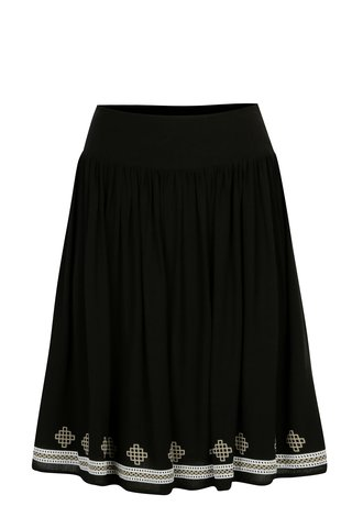 Černá sukně s potiskem Yest
