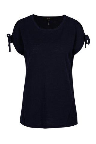Tmavě modré tričko s průstřihy na ramenou Yest