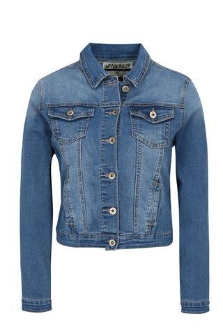 Jacheta din denim albastra cu aspect decolorat Haily's Enny