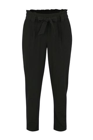 Pantaloni negri cu talie inalta si funda - Jacqueline de Yong Dakota