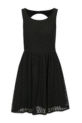 Černé krajkové šaty s průstřihem na zádech Haily´s Lilly