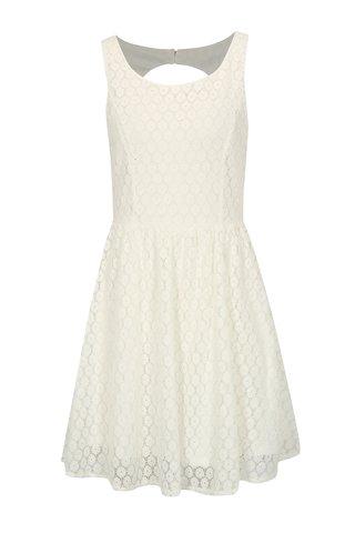 Bílé krajkové šaty s průstřihem na zádech Haily´s Lilly
