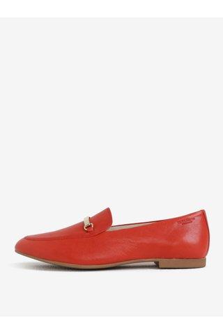 Mocasini de dama rosii din piele Vagabond Eliza