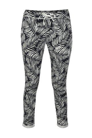 Pantaloni sport largi alb-negru cu model Haily´s Jada