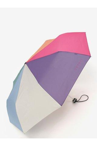 Umbrela pliabila roz-albastru Esprit ALU