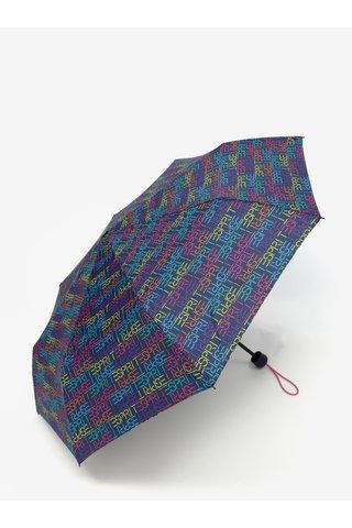 Umbrela albastra cu invelis sacosa 2 in 1 Esprit Dots & Dots