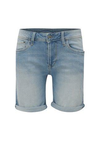 Pantaloni scurti bleu din denim pentru femei - Pepe Jeans Poppy