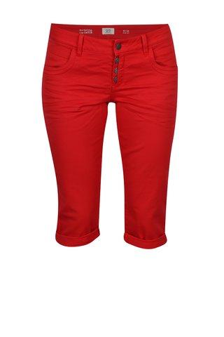 Pantaloni scurti slim fit rosu din denim cu talie joasa - QS by s.Oliver
