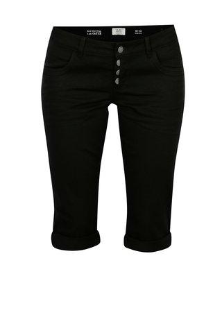 Pantaloni scurti slim fit negru din denim cu talie joasa - QS by s.Oliver