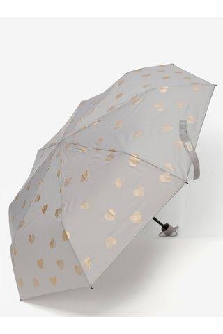 Umbrela pliabila gri Esprit Super Mini Flower & Birds