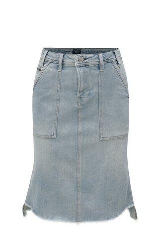 Fusta albastru deschis din denim Pepe Jeans Penny