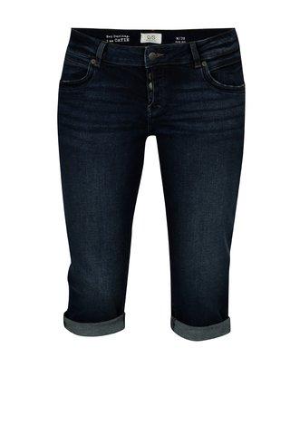 Pantaloni scurti slim fit albastru inchis din denim cu talie joasa - QS by s.Oliver