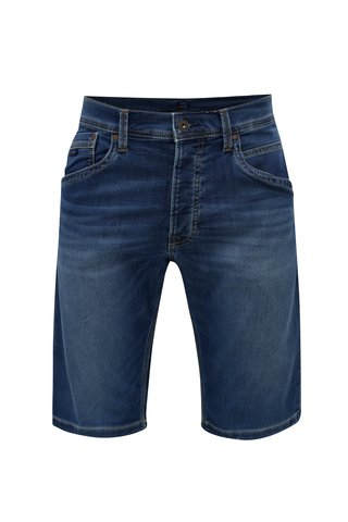 Pantaloni barbatesti scurti albastri regular din denim Pepe Jeans Track short