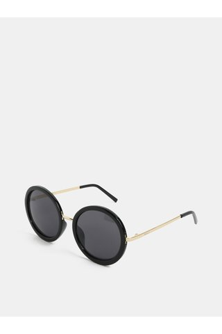 Ochelari de soare rotunzi cu negru si auriu Nali