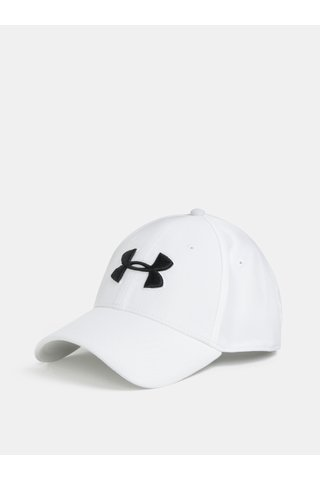 Sapca barbateasca alba cu logo Under Armour