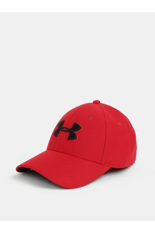 Sapca barbateasca rosie cu logo Under Armour