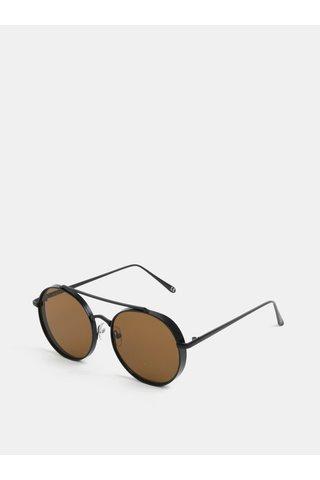 Ochelari de soare rotunzi de culoare negra Nali