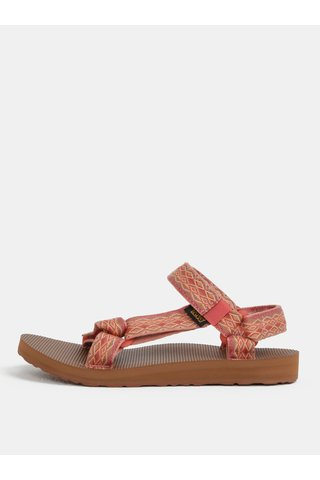 Sandale de dama corai cu model Teva