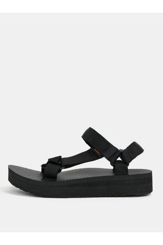 Sandale de dama negre cu platforma Teva