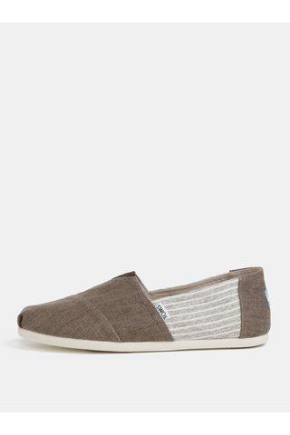 Pantofi slip on maro cu print pentru barbati - TOMS