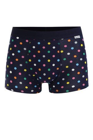 Boxeri albastru inchis cu buline pentru barbati - Happy Socks