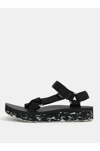 Sandale de dama negre cu model si platforma Teva