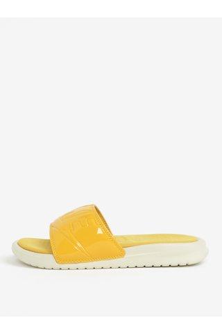 Žluté dámské pantofle Nike Benassi Jdi