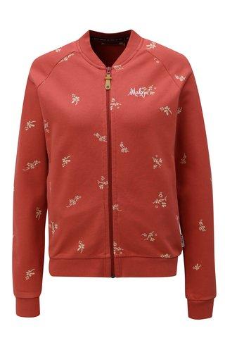 Bluza sport de dama caramizie cu model Maloja