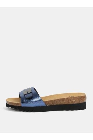 Papuci de dama ortopedici albastri Scholl Ginni