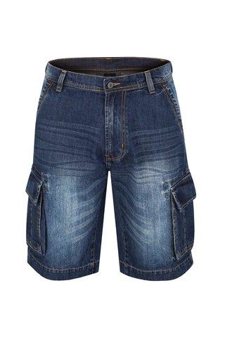 Pantaloni barbatesti scurti albastru inchis din denim LOAP Vales