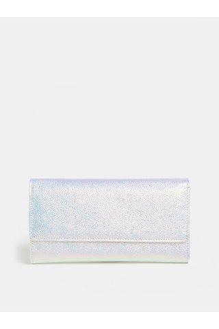 Portofel argintiu metalic cu reflexii roz Anna Smith