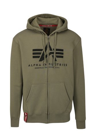 Hanorac barbatesc verde cu gluga ALPHA INDUSTRIES