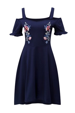 Rochie albastru inchis cu umerii goi Dorothy Perkins