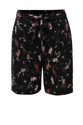 Pantaloni de dama scurti negri cu cordon M&Co