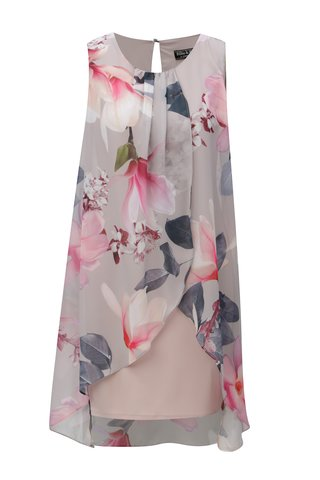 Rochie inflorata roz cu gri Billie & Blossom by Dorothy Perkins