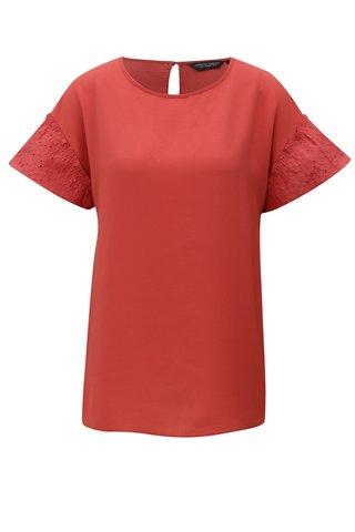 Bluza rosie cu maneci scurte Dorothy Perkins