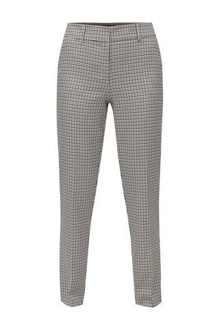 Pantaloni tartan crem cu negru Dorothy Perkins Tall