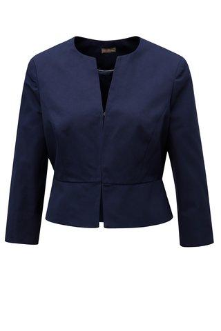Tmavě modré dámský zkrácené sako M&Co