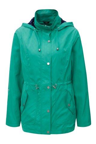 Jacheta de dama parka verde lejera impermeabila cu buzunare M&Co