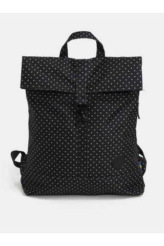 Černý puntíkovaný batoh s karabinou City Fold 16 l