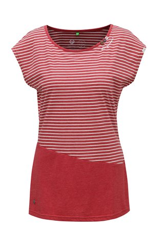 Tricou de dama rosu in dungi Ragwear Ninon Organic
