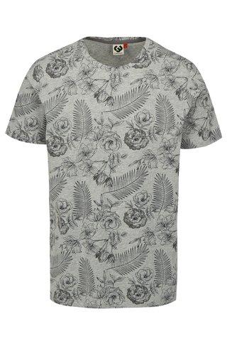 Tricou barbatesc gri cu model floral Ragwear Luka